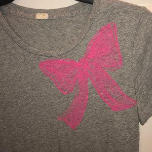 J crew pink bow t shirt